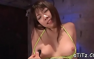 Jamming huge tits asian playgirl