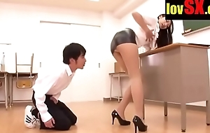 www.lovsx.com ASIAN TEACHER REALISES THAT HER SKIRT IS WAY Uniting Steep