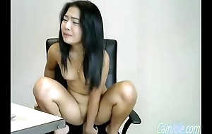 pretentiously dildo enter her tight oriental pussy CamJoie.com