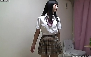 Japanese schoolgirl stripping absolutely nude