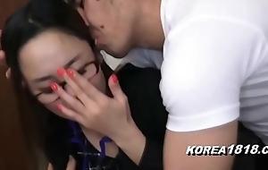 KOREA1818.COM - UPTIGHT Korean Sprog in Glasses