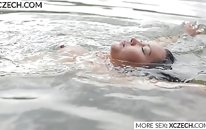Beautiful asian water lady's maid conclave titillating swimming - XCZECH.COM