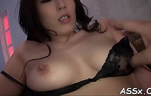 Asian platoon gang bang with sexy anal