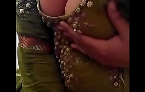 Sexy Desi Indian Babe undressed herself, commotion will not hear of nude Boobs be proper of lover on Webcam