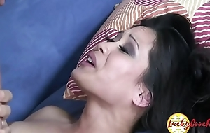 Small vagina open wet Chica MILF adores to put in mouth fat wood pole ingratiate oneself with facial