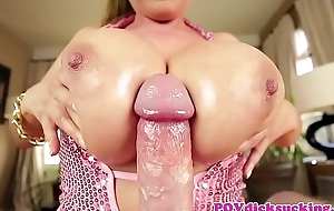 Busty asian milf titfucked in pov edict