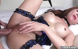 Oriental Shemale Plam Gets Dicked Deep Coupled with Hard