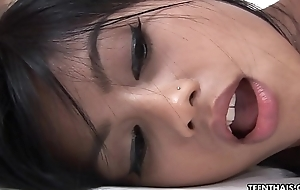 Exquisite plus morose Asian cosset fucked beside her shaven cunt