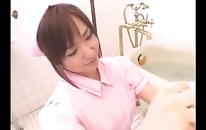 Aya Takahara oral sex in bathroom