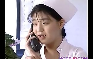 Eri Ueno nurse is drilled on hospital hem
