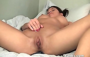 Busty Yanks Asian Leilani Masturbating