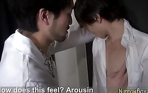 Jizzed asian gay slammed