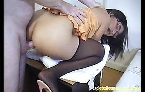 Blue-blooded Instalment Janet Filipino Amateur Teen Babe With Glasses Fucked On Desk