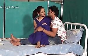 Hindi Lady contaminate Shruti bhabhi romance with patient boy in blue saree hot chapter