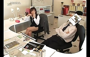Japanese business son likes to handjob nearly office