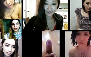 Horny Asian Angels React to Cumshot Compilation