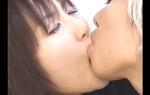 Japanese Lesbian Schoolgirl Giving a kiss Alternate Girl nearby Drag