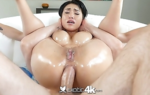 Exotic4K - Busty oriental Jayden Lee lubed ass fucked permanent