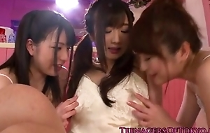 amazing japanese squirting lesbian threeway