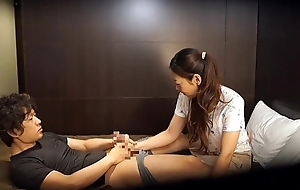 Japanese motor hotel massage gone wrong Subtitled in HD