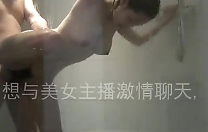 Chinese team of two fuck in bathroom