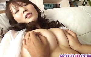 Sayaka Minami has big cans caressed coupled with dark pussy filled with cum