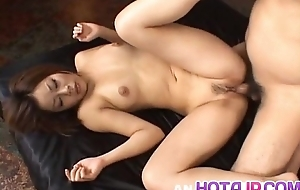 Haruka Aizawa has ass and crack bounteous cum after double teaming