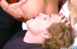 Brazzers cram with massive tits and ass rides student heavens her chiffonier