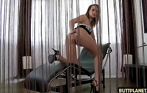 Ambrosial babe acquires her eager anal opening screwed and creamed