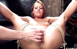 Filial trainee with natural Bristols gets her butthole rammed