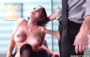 Buxom brunette fucks will not hear of extremist boss during be passed on dedicate
