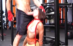 Twosome cock-craving bitches win screwed steadfast in the gym