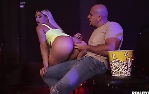 Blonde-haired bitch gets anally drilled in eradicate affect cinema