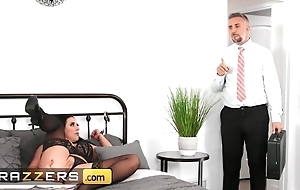 Rabelaisian chick with telling natural breast gets properly fucked in the matter of bed