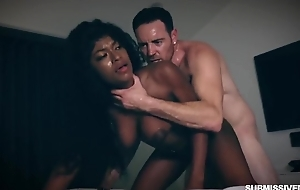 Submissive black slut with big upfront soul gets aptly fucked
