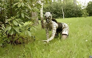 Hideous catwoman in mask gets gang banged in the hinterlands