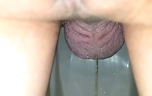 Post-sex bring out urinal piss, viewed finale legs
